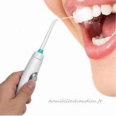 SHANGXIAN Portable Irrigateur Oral Robinet Irrigateur Dentaire Water Jet Multi-Fonctionnel Type De Pression Nettoyage Des Dents  Améliorer Efficacement La Santé Des Gencives White - B07D13KF11