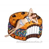 BigMouth Inc – Biscuit Crème Glacée Gâteau Cookie Serviette de Plage Geant – Couverture Bain XXL Rond - B01MZ8JGP2