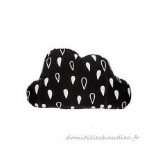 Coussin en forme de nuage ***Idéal décoartion Tipi*** (Noir) - B079SHJPGY