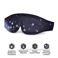 Graphène Masque de Sommeil Chauffant - 3D Ergonomique Masque des Yeux avec Thérapie Infrarouge Lointain  Masque de Nuit Électronique Anti-Fatigué USB Chauffe avec Contrôle de Température Réglable Pour Soins des Yeux - B07C77BNTD