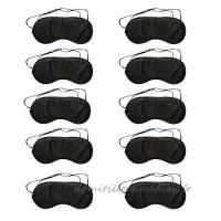 Demarkt 10 Pcs Masque des Yeux Bande élastique Noir Masques de Sommeil Doux Relaxation Anti-lumière pour Sommeil Cache Yeux Complètement Opaque Repos Masques de Voyage 18.5*8.5cm(Pas de Plaquettes de Nez) - B0779T33NP