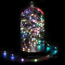 Guirlande lumineuse Micro LED 4 m Multicouleur 80 LED CC - Guirlande lumineuse pour sapin et maison    16AUU01