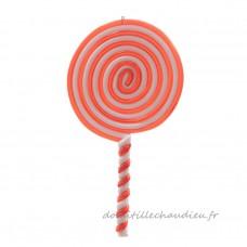 Baton de sucre d'orge enroulé Rouge - Décoration de sapin    F49U01
