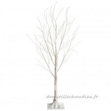 Bouleau lumineux Bisali Micro LED H180 cm Blanc chaud - Sapin et arbre artificiel    1672U01