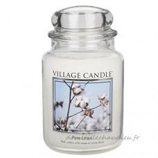 Village Candle Grande bougie parfumée Jusqu'à 170 heures de combustion Linge frais 17x10cm 1219g - B00AQSG60Y