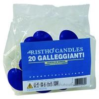 CERERIA DI GIORGIO S.p.A. Cereria di Giorgio Risthò Lot de 20 bougies flottantes  en cire  bleu  4 5x 4 5x 2 5cm - B06XHJWG9C