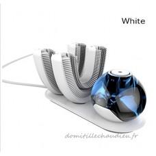 Brosse à dents électrique  semi-intelligente Brosse à dents automatique sans fil Convient aux personnes paresseuses Pochette à dents automatique rechargeable à 360 ° Avec 2 têtes de brosse   white - B07CNVPSQY