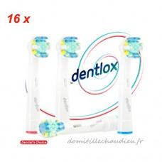 16 pcs (4x4) Brossettes-Têtes de remplacement DENTLOX® pour Brosses à Dent Electriques pour Braun Oral B Professional Care - B0764JL6B7