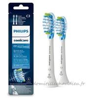 Brossettes Philips Sonicare hx9042/17original Premium Plaque Defense pour Diamond Clean Smart  Lot de 2  blanc - B074D18BF3